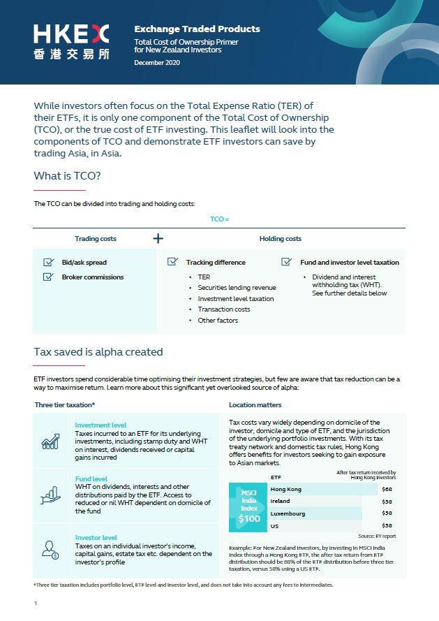 新西兰投资者ETF投资总成本简介(只供英文版)